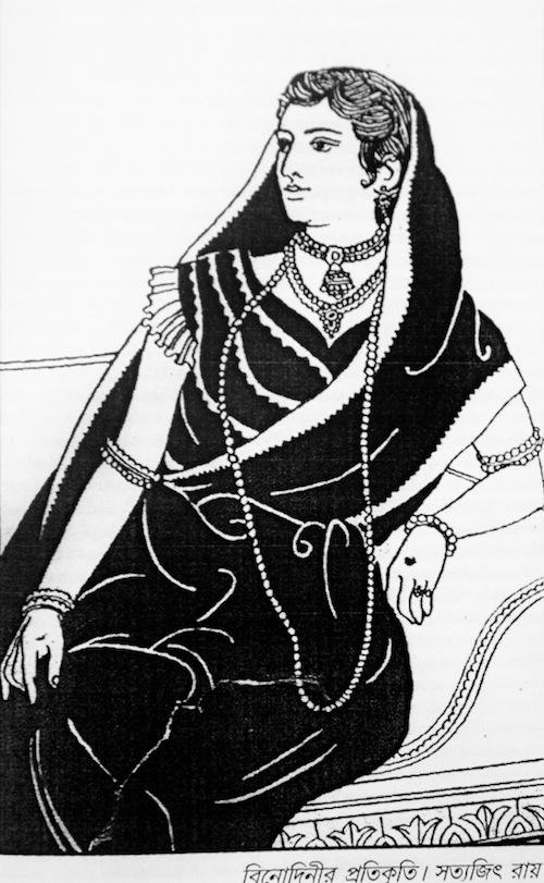 <i>Sketch of iconic actress Binodini Dasi by filmmaker Satyajit Ray</i>. Source: Bangla Natyokosh Parishad
