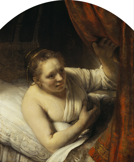 Rembrandt, <i>A Woman in Bed</i> (c.1645-46). Oil on canvas