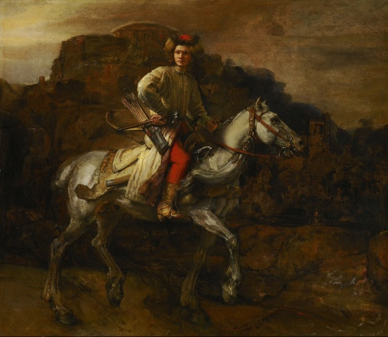 Rembrandt, <i>The Polish Rider</i> (c. 1655). Oil on canvas