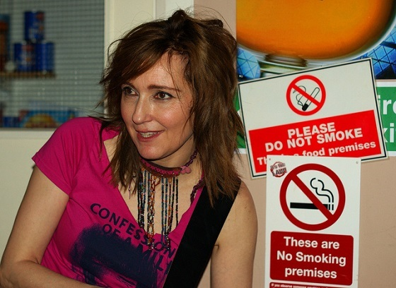 <i>Viv Albertine at the New Oxford, Salford, as part of the Sounds from the Other City Festival</i> (2011). Photograph by Man Alive! / Flickr