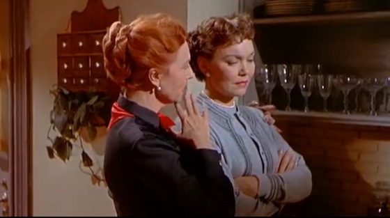 Agnes Moorehead and Jane Wyman in <i>All That Heaven Allows</i>