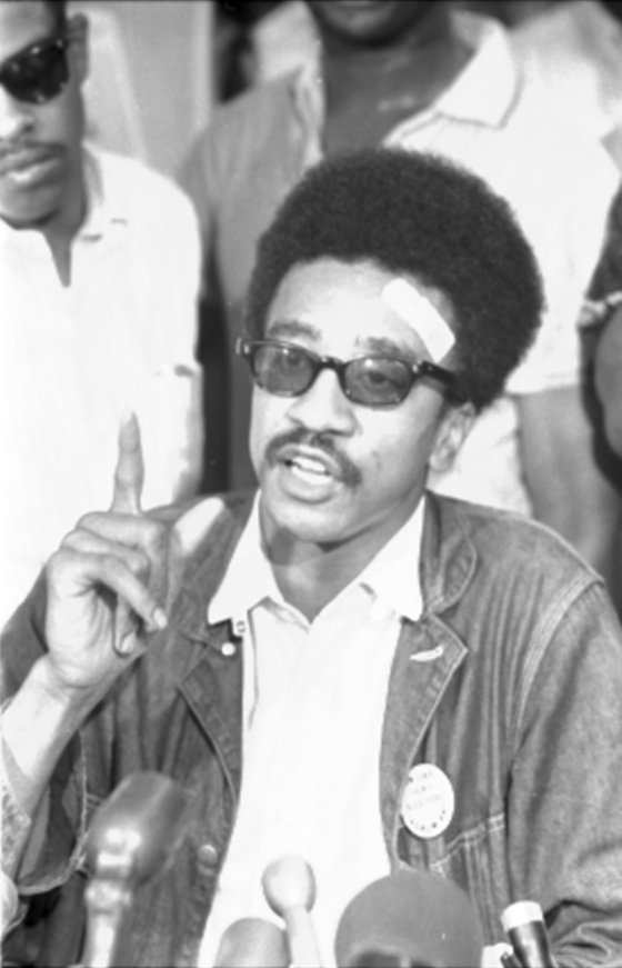 <i>H. Rap Brown, SNCC, news conference.</i> Photography by Marion S. Trikosko/Wikimedia