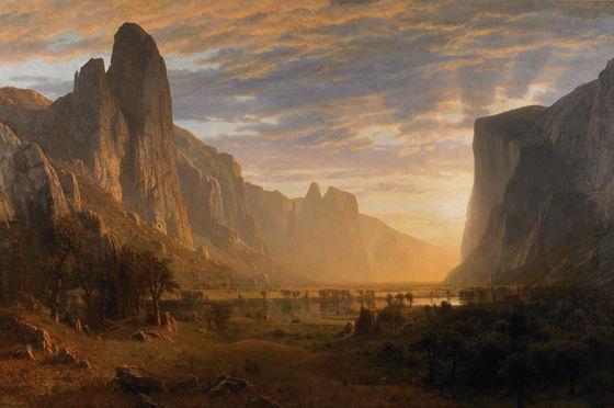 Albert Bierstadt, <i>Looking Down Yosemite Valley</i> (1865)