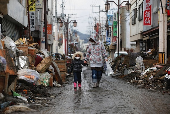 <i>Ishinomaki City, Miyagi Prefecture, March 31, 2011</i>. Photograph by Direct Relief / Flickr