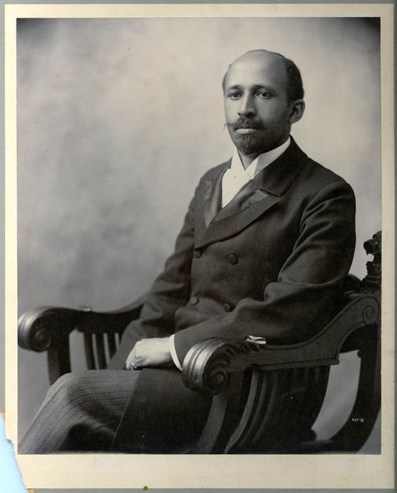 <i>W. E. B. Du Bois, photograph taken in summer 1907 in connection with the annual Niagara Movement meeting.</i> Wikimedia Commons