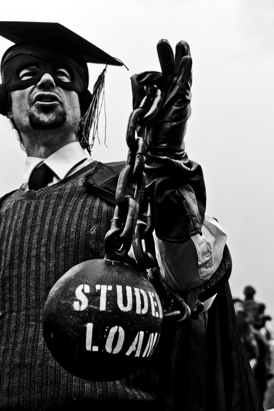 <i>Student Loans Shackle</i>. Photograph by Christopher Lucka / Flickr