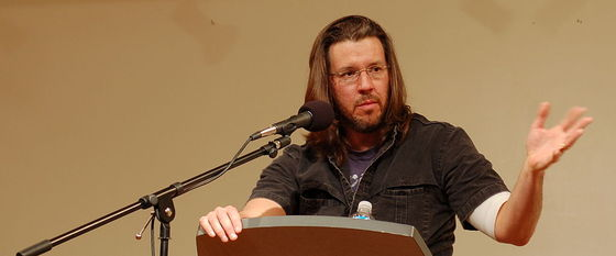 David Foster Wallace. Photograph by Steve Rhodes / Wikimedia Commons