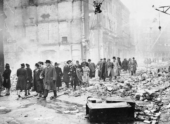<i>Bomb Damage in London during the Second World War</i>. Wikimedia Commons
