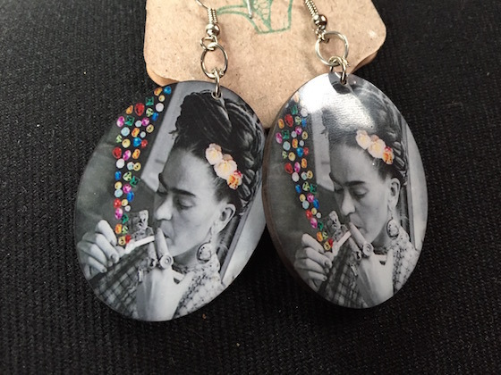<i>Frida Kahlo earrings</i>. Photograph by the author