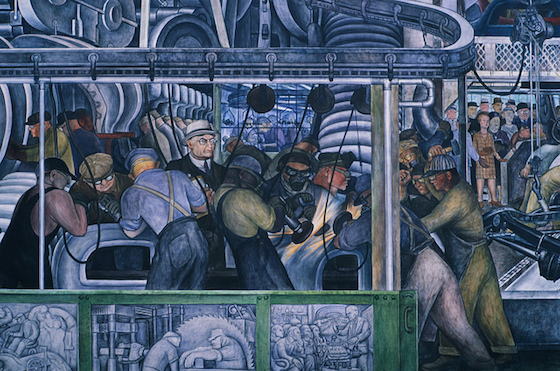 <i>Taylorism 1.0</i>. Detail of Diego Riveras murals at the Detroit Institute of Arts (193233). Photograph by Lars Plougmann / Flickr