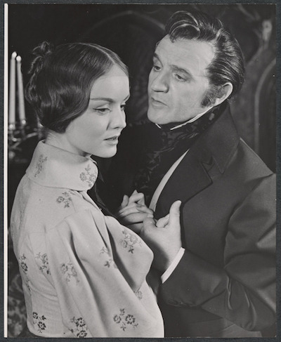 A 1958 Broadway production of <i>Jane Eyre</i>, adapted from Charlotte Brontë's pseudonymously published novel. Photograph courtesy of the Friedman-Abeles photograph collection / New York Public Library Digital Collections
