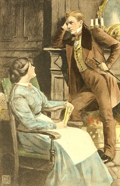 Mary Garth and Fred Vincy of George Eliot's <i>Middlemarch</i>, from a 1910 edition of the novel. Photograph courtesy of The Jenson Society, NY / Wikimedia Commons