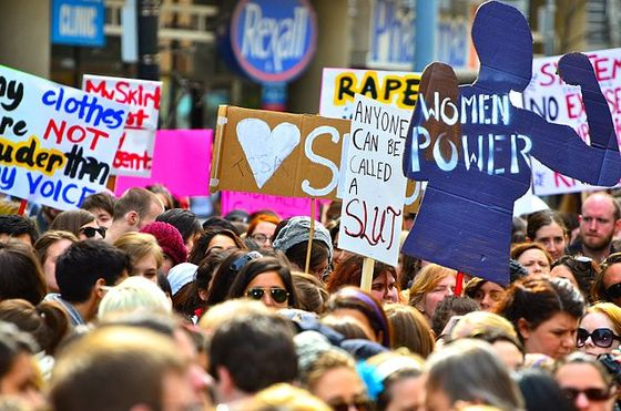<i>The first SlutWalk, an international protest against rape culture, in Toronto, 2011</i>. Photograph by Anton Bielousov / Wikimedia Commons
