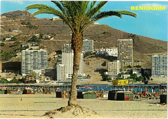 <i>Benidorm postcard, circa 1970s</i>.