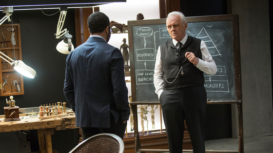 Dr. Ford (Anthony Hopkins) is the man behind <i>Westworld</i>'s proverbial curtain, the showman and inventor at the theme park's helm.