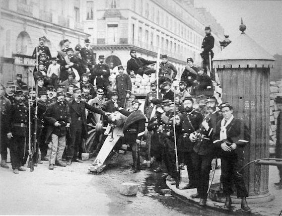 <i>Communards at the rue de Castiglione, Paris, December 30, 1871</i>. Photograph by Bruno Braquehais