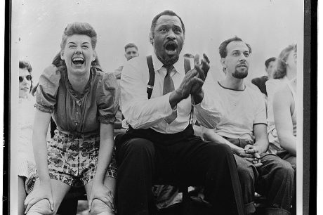 Paul Robeson at a softball game