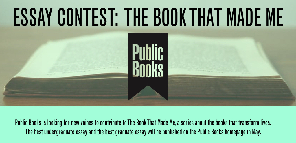 Essay Contest: The Book That Made Me