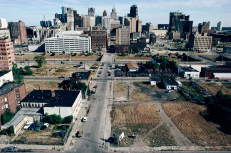 View South from Sibley St. along Park Ave., Detroit, 1991